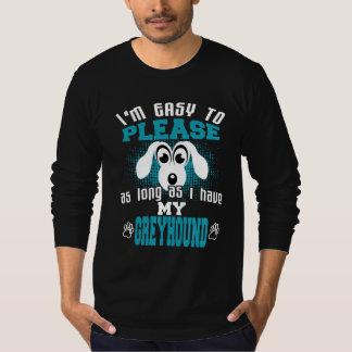 Camiseta Dueños divertidos del perro del galgo