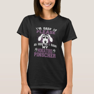 Camiseta Dueños divertidos del perro del Pinscher miniatura