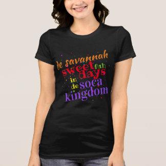 Camiseta Dulce de la sabana 4 días en el reino de d Soca