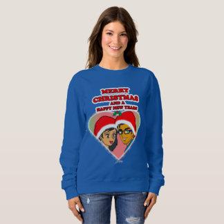 Camiseta dulce del corazón del navidad de la miel