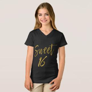 Camiseta Dulce dieciséis del dulce el 16% el pipe%
