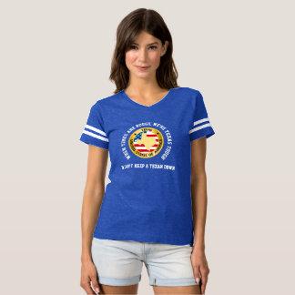 Camiseta dura del estilo del jersey de Tejas