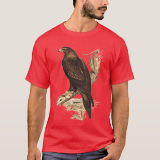 Camiseta Eagle atado cuña australiana. Ave rapaz enorme