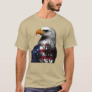 Camiseta Eagle calvo cubierto en la bandera americana
