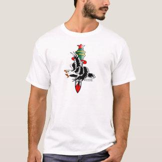 Camiseta Eagle y viejo tatuaje de Skool de la daga
