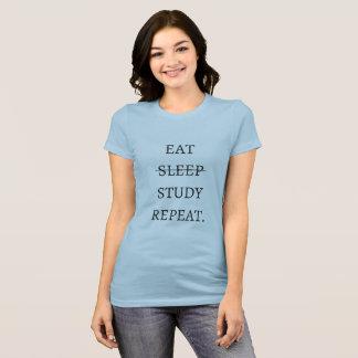 Camiseta Eat Sleep Study Repeat
