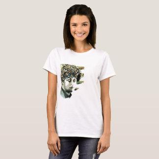 Camiseta Edición muy verde del blanco del collage del día