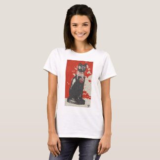 Camiseta Egipt bastet cat female design art colour history