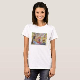 Camiseta Egipt female design art colour history