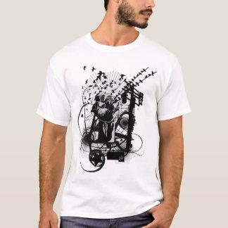 Camiseta Ejemplo artístico del puño urbano artístico del