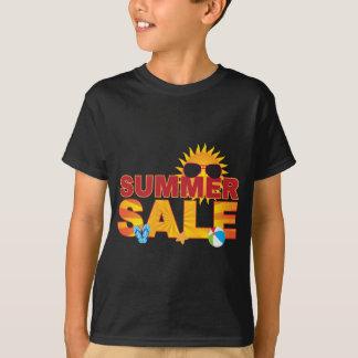 Camiseta Ejemplo de la bandera del tema de la playa de la