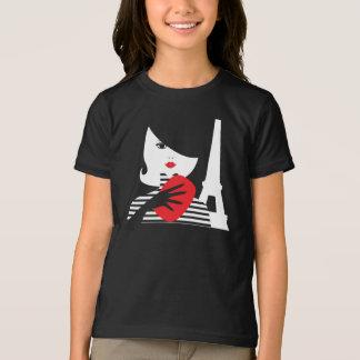 Camiseta Ejemplo elegante francés de la moda de la moda