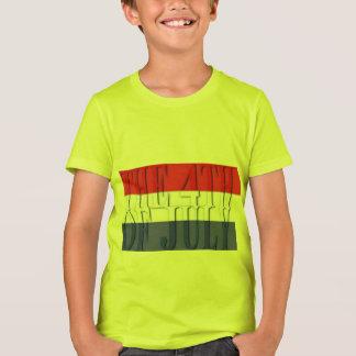 Camiseta el 4to de Bella de los niños de julio+Camiseta del
