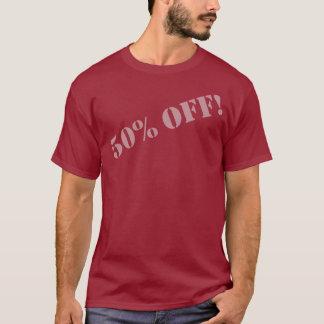 Camiseta ¡El 50% APAGADO! (Fuente-b gris)