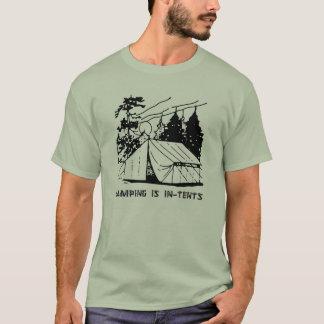 Camiseta El acampar es escena de los intentos, se ennegrece