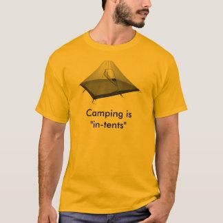 """Camiseta El acampar es """" intentos """""""