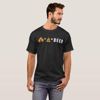 Camiseta El acampar + Hoguera = cerveza