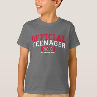 Camiseta El ADOLESCENTE OFICIAL XIII dejó la diversión