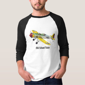 """Camiseta El aeroplano del viejo estilo con la """"ESCUELA"""