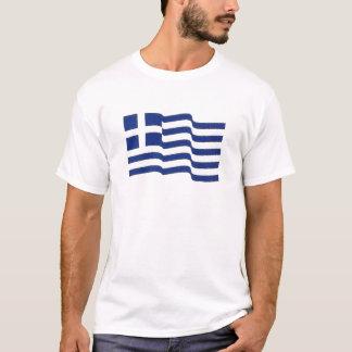 Camiseta el agitar griego de la bandera