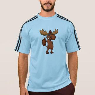 Camiseta El agitar lindo del dibujo animado de los alces