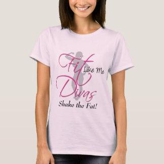 Camiseta El ajuste tiene gusto de mí las divas