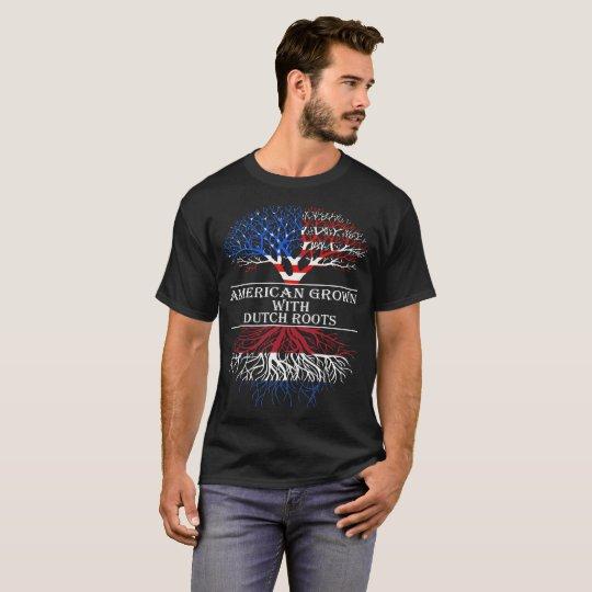 Camiseta El americano crecido con el holandés arraiga la