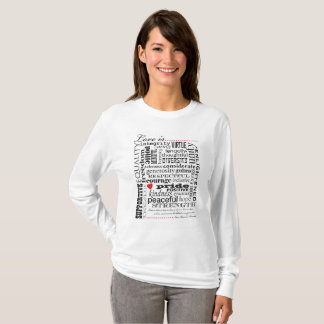 Camiseta El amor es amor, materia de las palabras