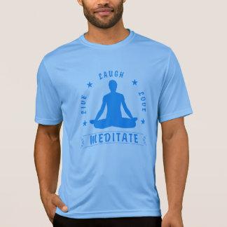 Camiseta El amor vivo de la risa Meditate el texto