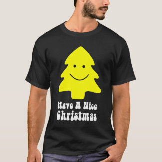 """Camiseta El árbol de navidad feliz """"tiene Niza navidad """""""