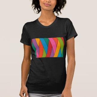 Camiseta El arco iris abstracto colorea el fondo
