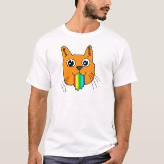 Camiseta El arco iris Puke el dibujo animado del gato a