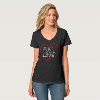 Camiseta El arte es amor (la mano escrita)