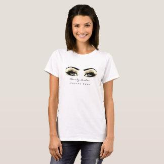 Camiseta El artista de maquillaje broncea ojos de oro del