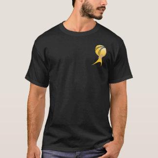 Camiseta El atlas oficial encogió T - negro y oro