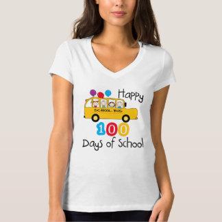 Camiseta El autobús escolar celebra 100 días
