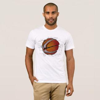 Camiseta El baloncesto mecánico parte el diagrama