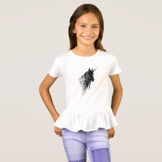 Camiseta El blanco del diseño del unicornio embroma la