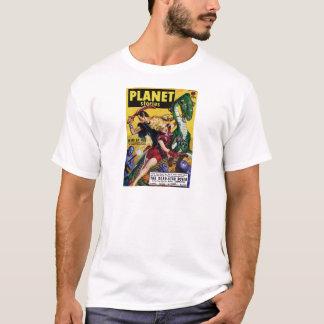Camiseta El Blonde heroico monta un dinosaurio