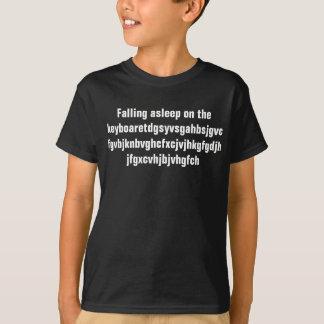 Camiseta El caer dormido en el teclado