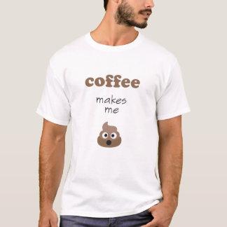 Camiseta El café divertido me hace frase del emoji del