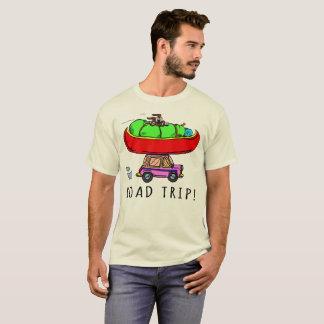 Camiseta El caminar Canoeing que acampa del viaje por