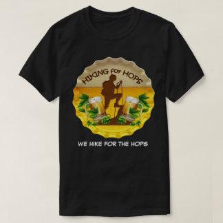 Camiseta El caminar para los saltos logotipo oscuro de la