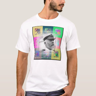 Camiseta El capitán Smith del arte pop del titánico
