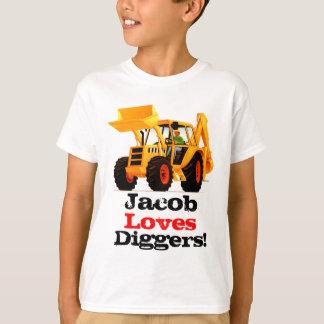 Camiseta El cavador amarillo conocido de encargo del niño