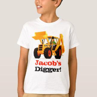 Camiseta El cavador amarillo del niño conocido de encargo