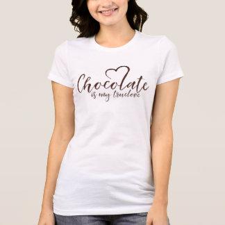 Camiseta El chocolate es mi Truelove