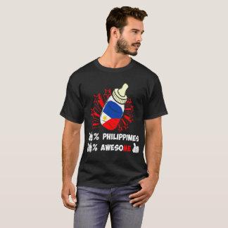 Camiseta El ciento por ciento de Filipinas de orgullo