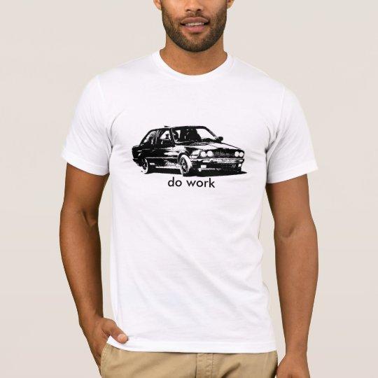 Camiseta el coche de carreras al revés funciona