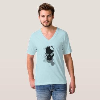 Camiseta el cráneo con salpica